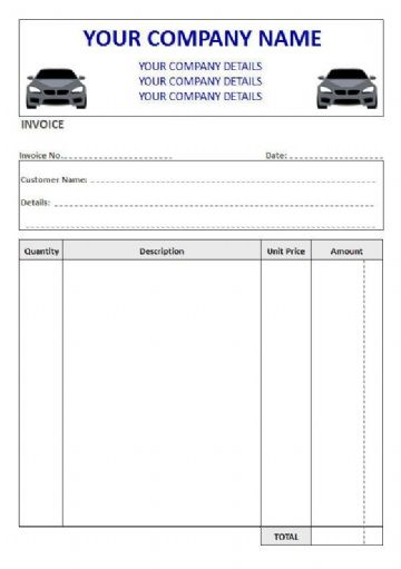 Mechanics NCR Invoice Pads & Sets, 4 Column
